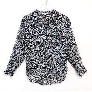 NWOT Two By Vince Camuto Animal Print Blouse Sz M